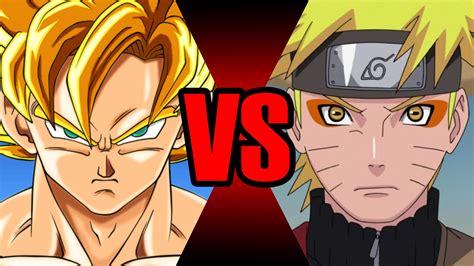 imagenes de goku vs naruto goku vs naruto batalha mortal ei nerd youtube