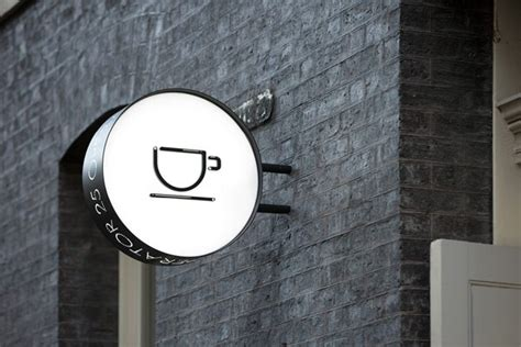 coffee shop signage design operator 25 cafe brand design by studio pop pac