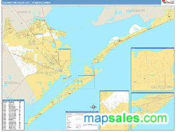galveston texas zip code map galveston texas city tx metro area zip code wall map basic style by marketmaps