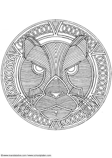 abstract lion coloring pages bilde 229 fargelegge mandala leopard bil 18713
