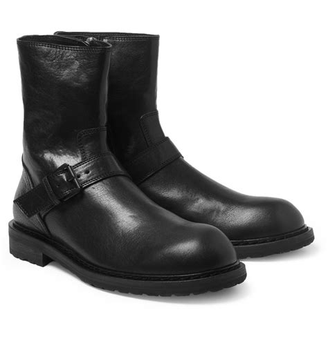 demeulemeester boots demeulemeester leather biker boots in black for lyst