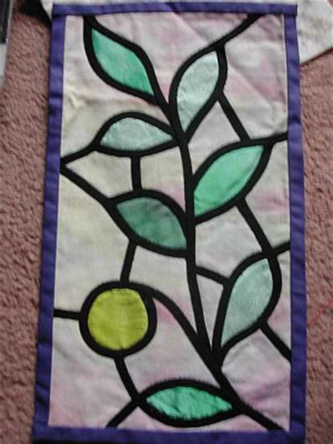 Glass Applique by Stained Glass Window Applique Liz Plummer