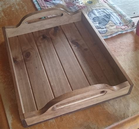 Handmade Timber Beds - handmade wooden bbq tray dining tray breakfast in bed