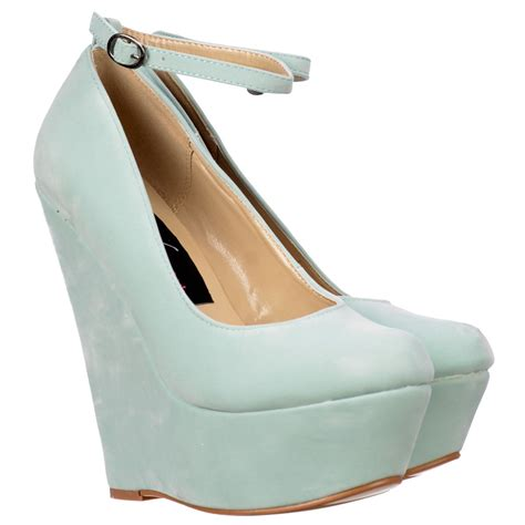 onlineshoe mint suede wedge platform shoes ankle