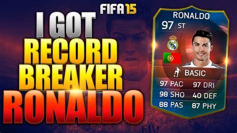 reset online record fifa 15 i got record breaker st ronaldo fifa 15 ultimate team