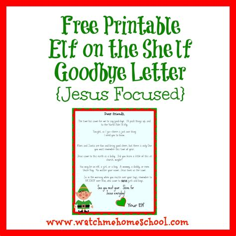 printable goodbye letter to elf on the shelf elf on the shelf letters letters and other great ideas