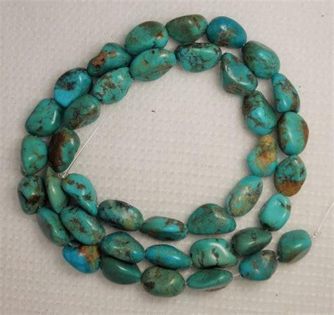 turquoise gemstone nugget 16 quot std color craft