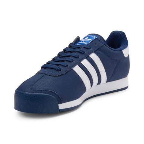 mens adidas samoa athletic shoe blue 436286