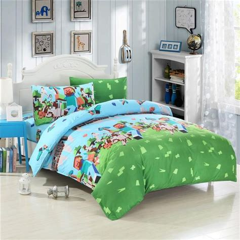 minecraft bed sets 2015 hot uk and usa size twin queen minecraft 3d bedding