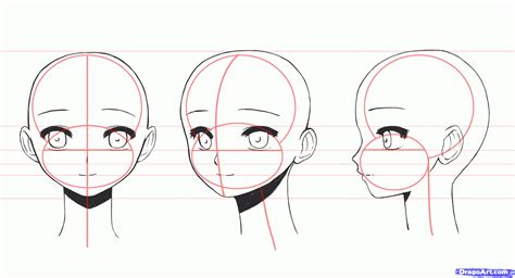 how to draw a simple anime girl step by step anime how to draw anime girl faces step by step anime heads