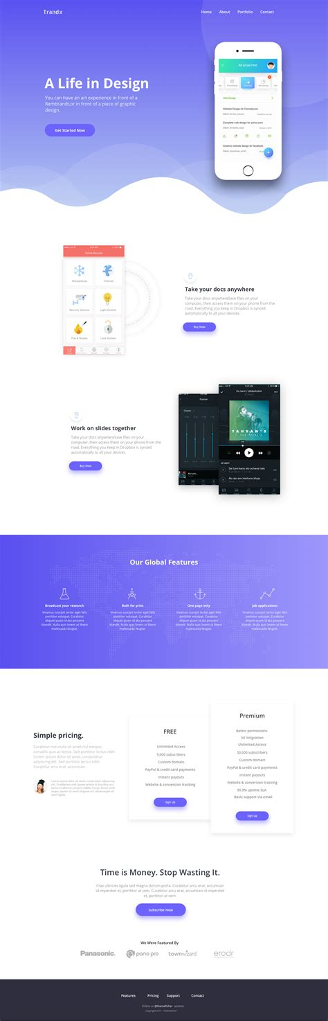 app landing page template free trandx app landing page template for sketch apemockups