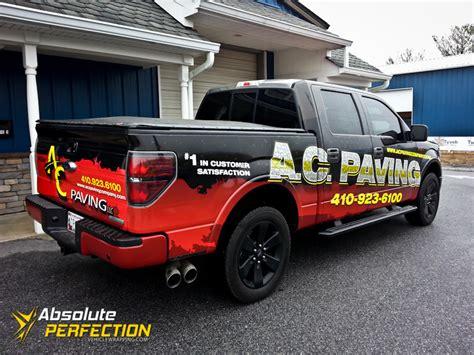boat wraps maryland ac paving pickup truck wrap annapolis maryland vehicle