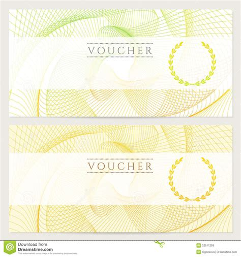 ticket voucher template gift certificate voucher ticket coupon color royalty