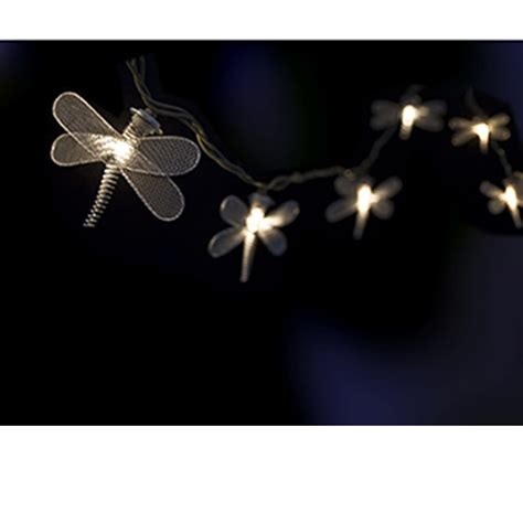 metal dragonfly hanging light string