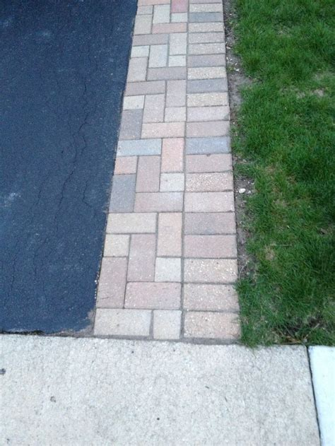 asphalt  stone sides google search driveway