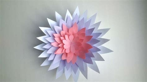 Paper Crafts How To Make - how to make a flower out of paper diy crafts tutorial