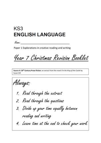 aqa english language practice 129218633x year 7 aqa practice english language exam paper 1 reading and writing by josephinemsacks