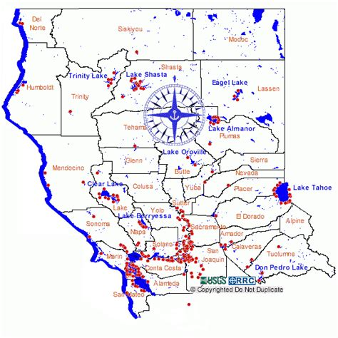 california map rivers marinas harbors and yacht clubs of northern california