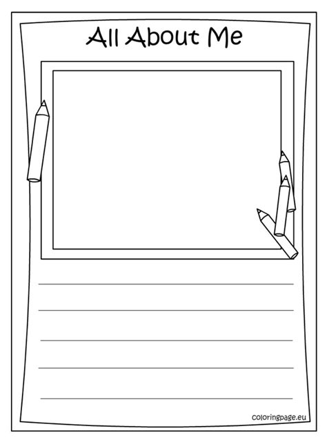 all about me coloring pages 187 all about me coloring page