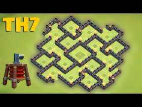 Clash of clans town hall 7 th7 hybrid base the hallucination