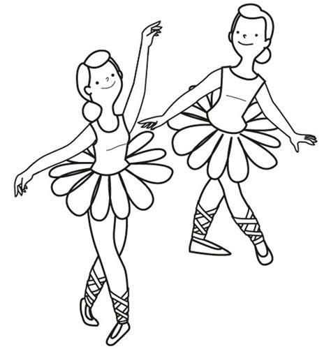 bailarinas para imprimir bailarinas de ballet dibujo para colorear e imprimir