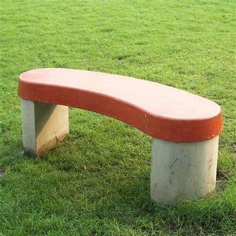 curved cement bench concrete furniture kk curved bench