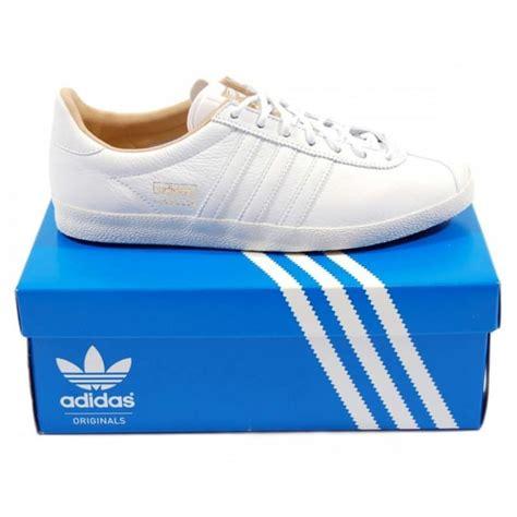 Adidas White Premium adidas originals gazelle og premium white mens clothing from attic clothing uk