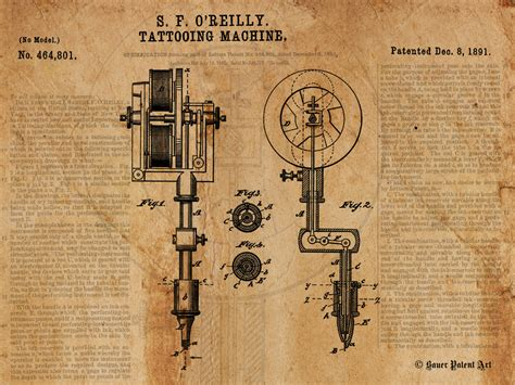 electric pen tattoo hermitage pa vintage patent art drawing of tattoo machine