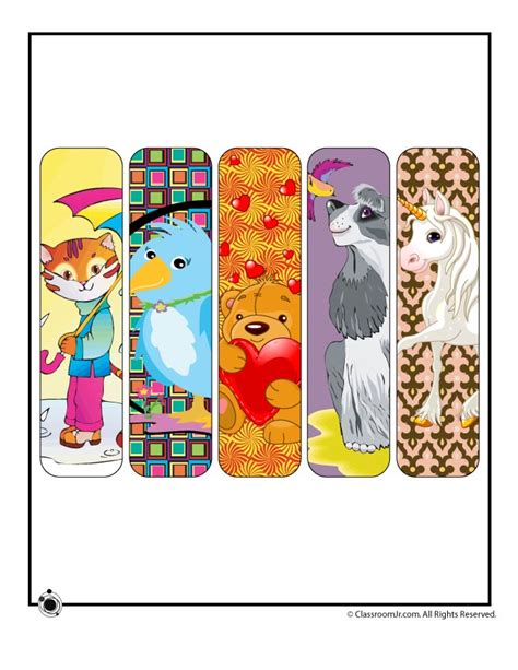 printable animal bookmarks free printable bookmarks with animals that both girls and
