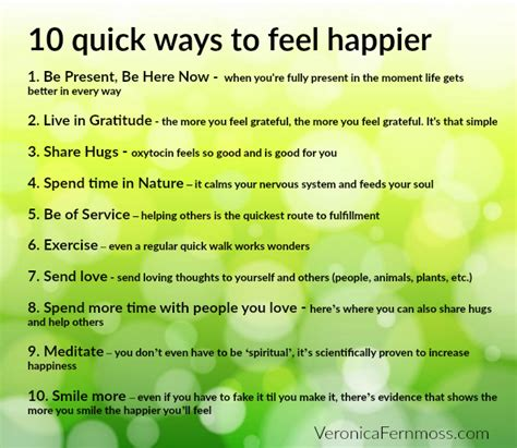 the happier approach be to yourself feel happier and still accomplish your goals books 10 ways to feel happier fernmoss