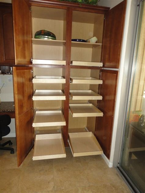 How To Build Pull Out Shelves For Kitchen Cabinets Pantry Pull Out Shelves By Slideoutshelvesllc Traditional By Slide Out Shelves Llc