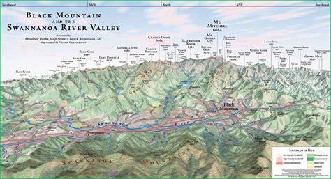 carolina mountains map black mountain panorama map balck mountain nc mappery