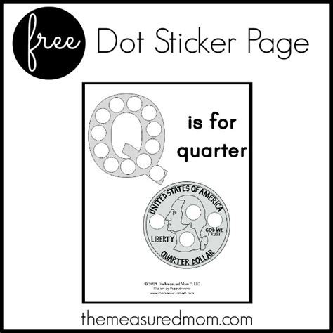 printable quarter worksheets free letter q printable q is for quarter the measured mom