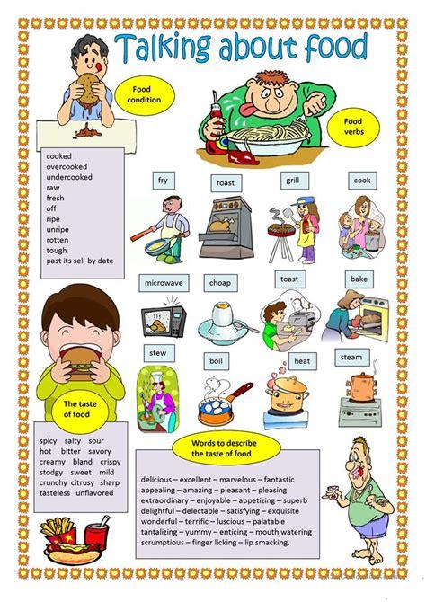 talking about food talking about food worksheet free esl printable worksheets made by teachers