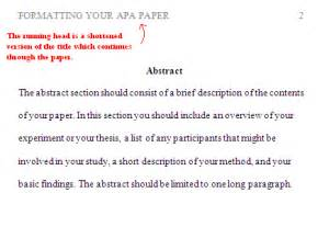 Sle Abstract For Research Paper Apa by Abstract Page Exle