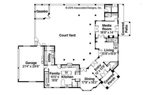 interior courtyard floor plans house plans with front courtyard garage house design plans