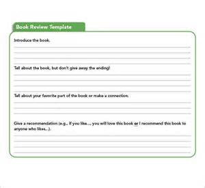 Book Review Template by Sle Book Report Template 8 Free Documents