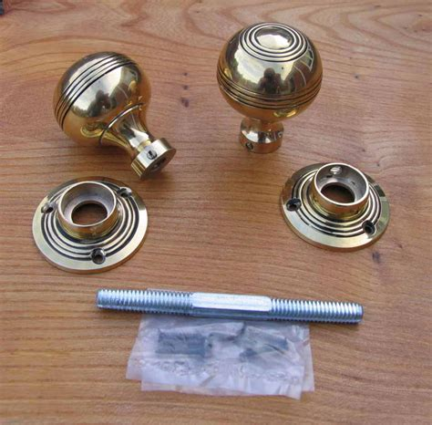 antique reproduction solid brass door knobs