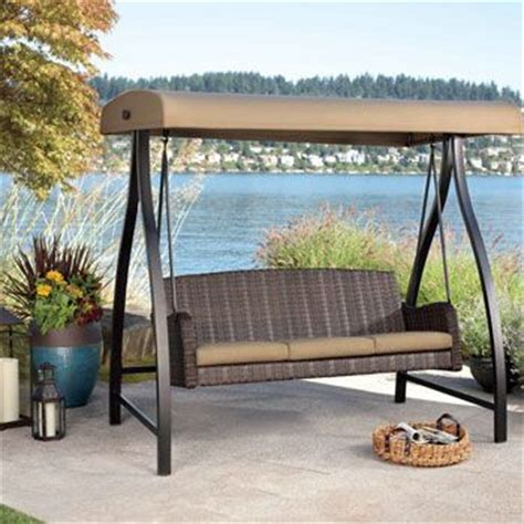 agio swing costco uk agio fairview aluminium woven swing with