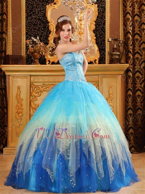 quinceanera colors stylish gradually changing fading contrast color