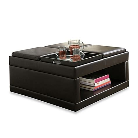 Buy Verona Home Cocktail Ottoman Table With Flip Tray From Cocktail Storage Ottoman With Trays