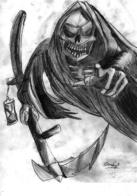 death drawing by huntere15 on deviantart
