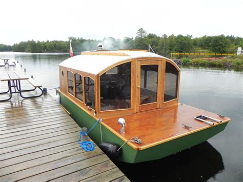 Handmade Houseboats - canadian cabinetmaker builds diy mico houseboat