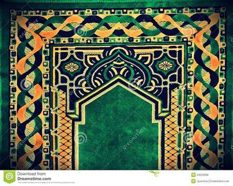 islamic pattern rug beautiful islamic praying carpet stock photo image 54520068