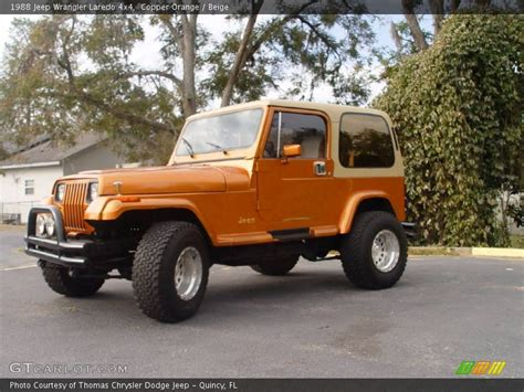 copper jeep 1988 jeep wrangler laredo 4x4 in copper orange photo no