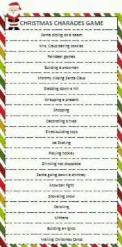 Christmas charades game holiday ideas pinterest