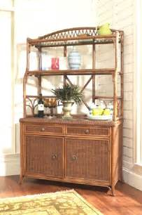 Bakers Rack With Cabinet Bakers Rack In Rattan And Wicker By Classic Rattan 7430