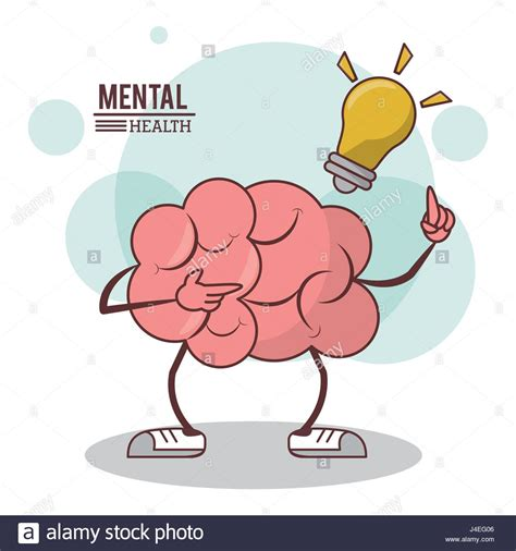 Imagenes Mental Health | mental health cartoon brain bulb illumination concept