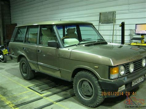 land rover wooden range rover 3 5 efi auto 1986 rare wood pickett conversion