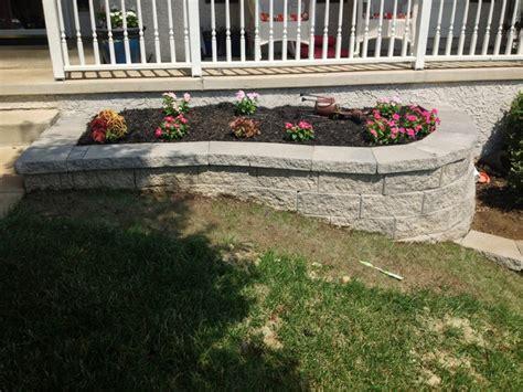 retaining wall flower bed retaining wall custom flower bed in newark delaware